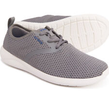 Crocs Men's LiteRide Mesh Lace-Up Sneaker, Smoke/White, Size 10