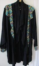 Jacket Woven Fabric black Robe like Coat Women's hippy boho Poet Renissance
