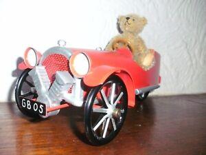 teddy hermann original BEAR IN RED CLASSIC CAR Ltd Ed No 44