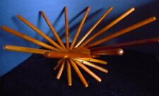 Modern Style Folding Wood Rods Satellite Fruit Bowl, Carlo Contin Designer, 1999