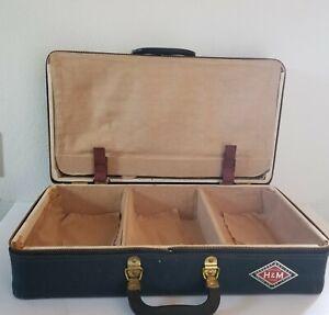 Vintage Herkert & Meisel Shoe Salesmans Cloth Case 6 Compartment Professional