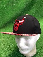 Rare Pattern Chicago Bulls Hat Cap Snapback NBA Basketball Fats Free Shipping
