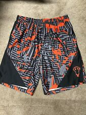 Mens Under  Armour Gray And Orange Under Armour Shorts Size L