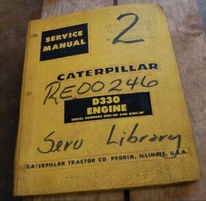 CAT Caterpillar D330 Diesel Engine Service Manual repair shop overhaul book 81b