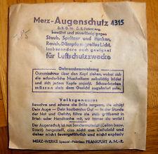 Brille Luftschutz Merz Augenschutz 4315 - 2. Weltkrieg Bombenkrieg um 1942 WWW2