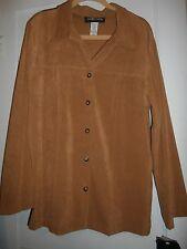 SAG HARBOR LONG Sleeve Jacket  size 16 NWT BROWN/TAN/BISCOTTI