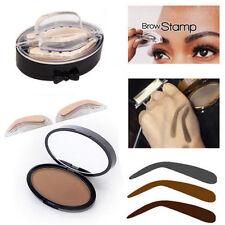 Palette Stamping Fard Poudre à Sourcils Eyebrow Ombre Tampon Pochoir Makeup