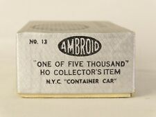 Ambroid HO Wood Craftsman Kit No 12 New York Central Container Car One of Five K