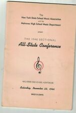 New York State School Music Association 1946 Sectional All State Conference