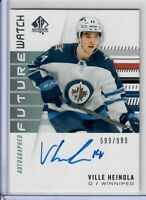 2019-20 SP Authentic Ville Heinola Future Watch Rookie Auto 599 OF 999 Jets RC