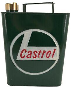 Vintage Style Petrol Fuel Jerry Can - CASTROL - Automobilia / Garage