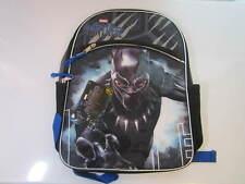 """Marvel 3D Raised Black Panther Backpack 16"""" Black"""