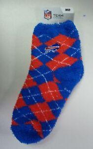 Buffalo Bills Women's Sleep Soft Socks Medium Size 6 to 11 Argyle