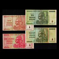 10 Trillion Dollars 20 50 Billion 100 Million Zimbabwe Banknote Currency AA 2008