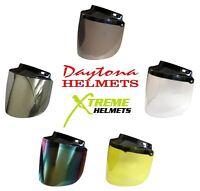 Daytona Flip Up Shield 3 Snap Visor for Skull Cap or Cruiser Helmet