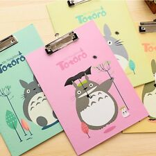 A4 Cartoon Document File Clipboard Metal Clip Thick Paper Writing Hard Pad Board