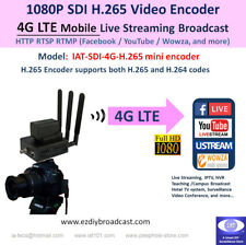 4G LTE SDI Camera-top WiFi H.265 encoder RTMP Facebook YouTube live streaming