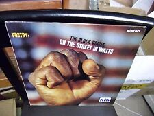 The Black Voices On The Street In Watts Poetry LP Ala Records VG+