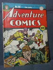 Adventure Comics 96 | 2/45 | WWII cover by Kirby & Simon | G/VG