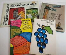 Lot Of 4, Stained Glass Pattern and Crafting Books, Used