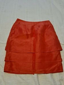 Woman's Coral/Red Summer Skirt From Limited Edition at  M&S Size 8