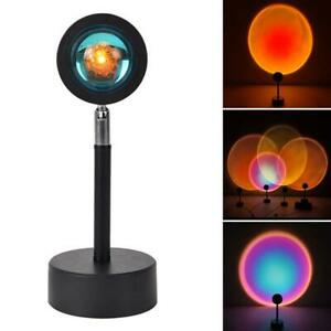LED Sun Sunset Rainbow Projector Atmosphere Light Lamp USB Home DIY Gifts New