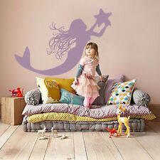 Mermaid Wall Decals Kids Decal Vinyl Sticker Bedroom Nursery Art Children MN834
