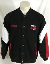 """Arca Remax Series Black Varsity Jacket """"77 Crew Chief Jimmie Garner"""" Men's Large"""