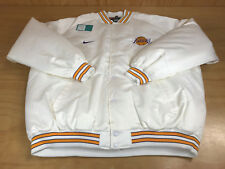 NIKE NBA LOS ANGELES LAKERS LOGO BASKETBALL VARSITY JACKET WHITE YELLOW MEN 4XL