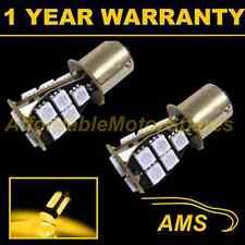 2X 581 BAU15S PY21W XENON AMBER 18 SMD LED FRONT INDICATOR LIGHT BULBS FI201401