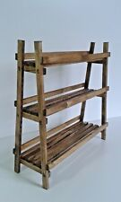 Spice and Herb Rack Freestanding 3 Tier (18 Mini Spice Jars) Handmade from Wood