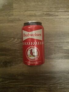 1 2020 ST LOUIS CARDINALS BUDWEISER 12 OZ. ALUMINUM BEER  CAN  BOTTOM OPENED