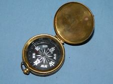 Vintage York Hamza Maritime Nautical Brass Mapping Hiking Compass