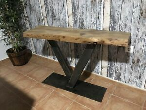 Rustic Custom Made Table Side Table Entrance Hall Table Lamp Stand Industrial