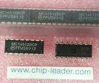 10x Motorola MC14512BCP , IC, Multiplexer, 1-Func, True Output, CMOS, PDIP-16
