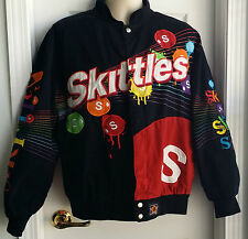 SKITTLES Taste the Rainbow Cotton Jacket SIZE MEDIUM Embroidered JH Designs