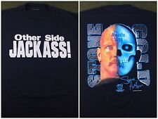 Vintage Mens L 1998 Stone Cold Steve Austin Jackass WWE Graphic Black T-Shirt