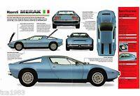 MASERATI MERAK SS SPEC SHEET/Brochure/Prospekt: 1976,1977,1978,......