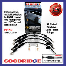 Ford Fiesta ST180 13 on Goodridge Zinc Plated CLG Brake Hoses SFD0121-4P