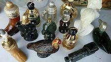 Vintage Lot of Avon Cologne Bottles Eagle, Quail, Boot, Horn, Train, more.