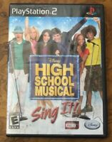 High School Musical: Sing It (Sony PlayStation 2, 2007) PS2 Complete Game CIB