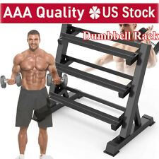 Adjustable 3 Tier Metal Steel Home Workout Gym Dumbbell Weight Rack Storage Stan