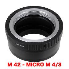 M42 - M 4/3  M42 Objektiv Lens Adapter an Panasonic Lumix Kamera Micro M 4/3 MFT