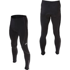 More Mile Padded Winter Thermal Mens Cycling Tights Black Bike Cycle Ride Pants