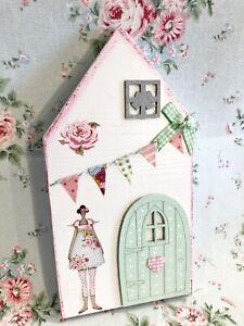 🌸 Deko Shabby Landhaus Rosa Haus Wichteltüre Handmade