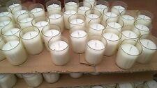 50 Lumini bianchi 18 ore, Lumino per lanterne, candeline, cera vegetale x eventi