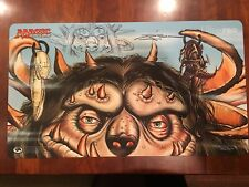 Wizards of The Coast Signed Doug Shuler Big Furry Monster Play Mat w/sketch