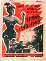 AFFICHE CINEMA film movie TERRE DE VIOLENCE 60x80 Maria Montez 1959