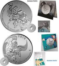 2016 Silver $20 Batman v Superman Dawn of Justice & 2015 $20 Superman Coin Set