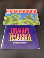 Dragon Warrior Instruction Booklet Nintendo Manual NO NES GAME AND MAP
